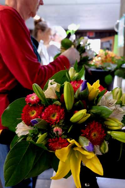 SUBMITTED PHOTO  - Unsold arrangements of Valentines Day flowers will be repurposed into bouquets for hospice and palliative care patients by The Bloom Project volunteers. To help out visit thebloomproject.org.