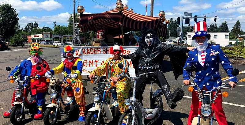 The Shriners get together in units such as the psych-clowns and represent the organization in parades.