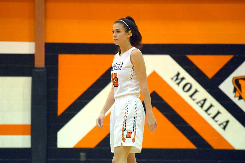 ARCHIVE PHOTO: TANNER RUSS - Molalla senior Mattie Myers had 17 points against Gladstone in the teams most recent league win.