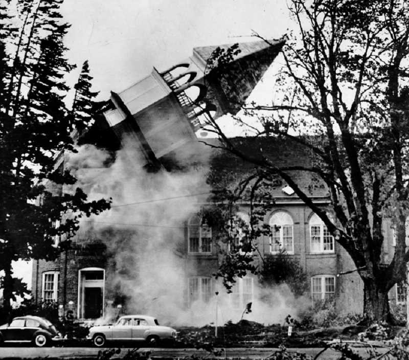 COURTESY PHOTO: FOREST GROVE SENIOR & COMMUNITY CENTER - Local author Sig Unander will speak about the Columbus Day Storm from 1962 that devestated parts of Oregon, including Washington County.