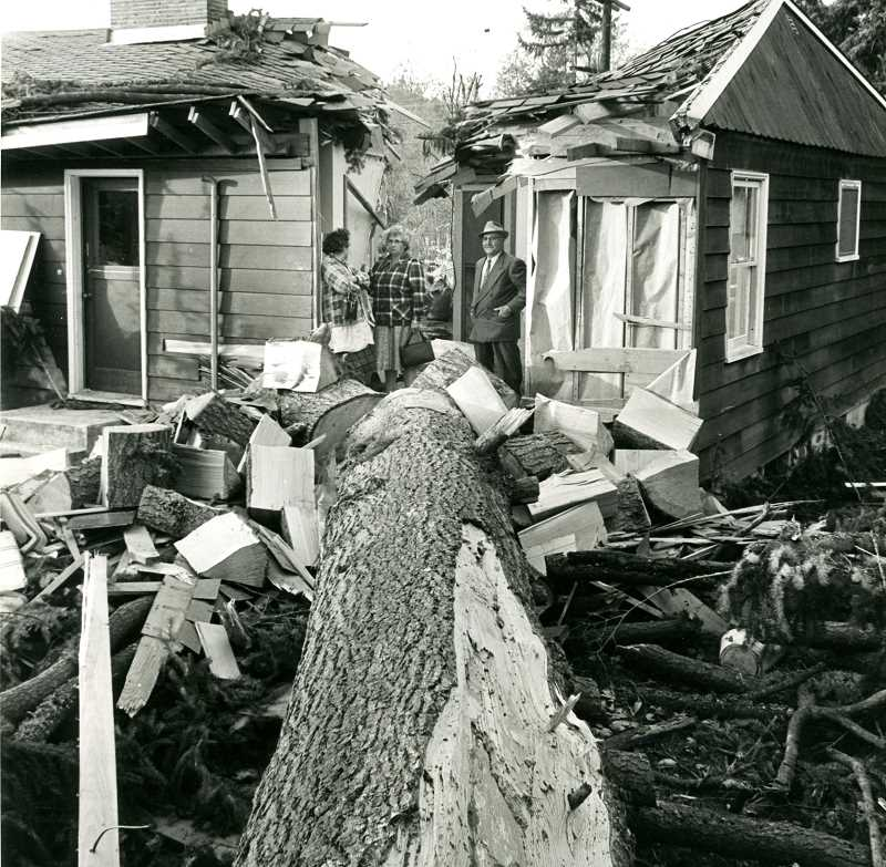 COURTESY PHOTO: FOREST GROVE SENIOR & COMMUNITY CENTER.  - Sig Unander is bringing his original presentation about the 1962 tropical cyclone that devastated the Pacific Northwest to the Forest Grove Senior & Community Center.