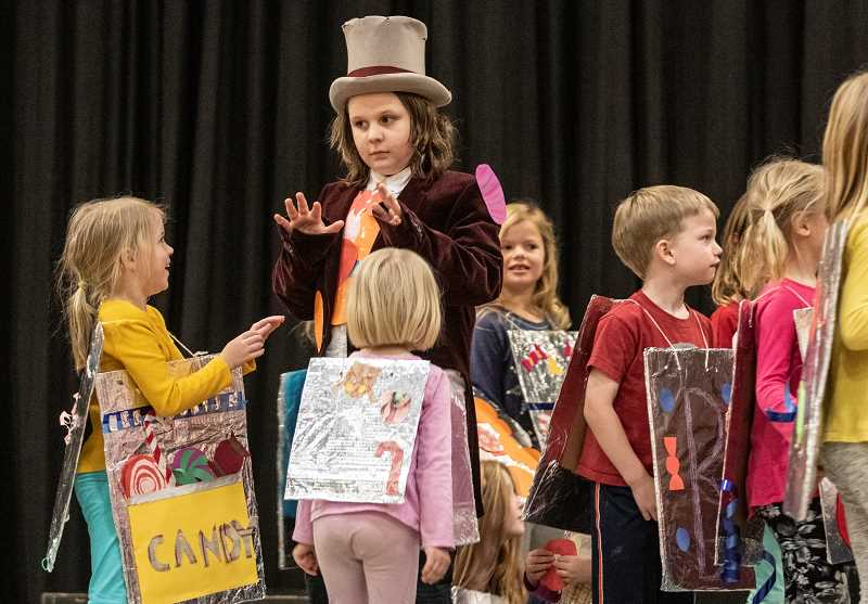 TIDINGS PHOTO: JONATHAN HOUSE - Griffin Reim plays Willy Wonka in Roald Dahl's 'World of Words.'
