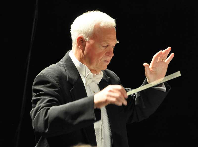 SUBMITTED PHOTO: STUART WORLEY - Lake Oswego Millenium Concert Band Director Dale Cleland will retire after leading the band for 20 years this summer.