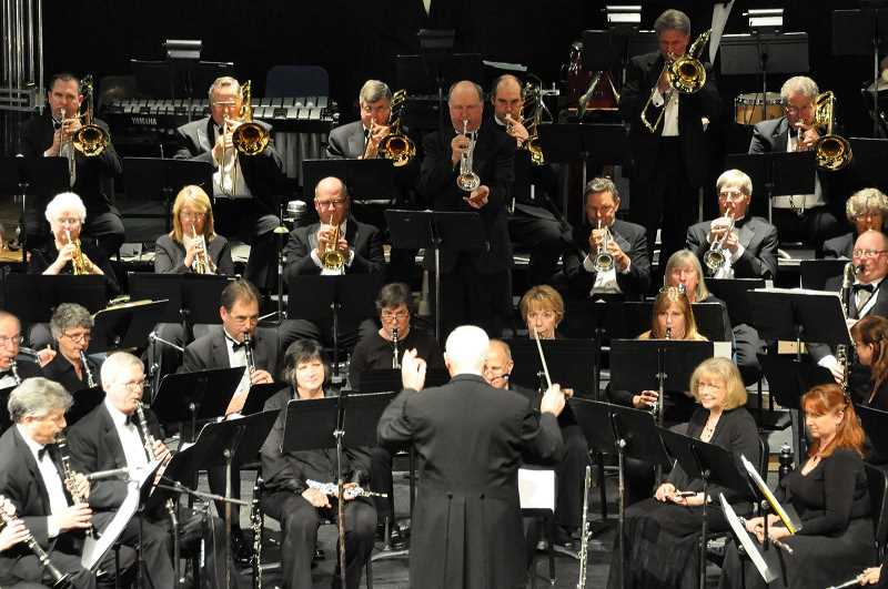 SUBMITTED PHOTO - Along with selecting and obtaining music, Dale Cleland is the bands conductor.