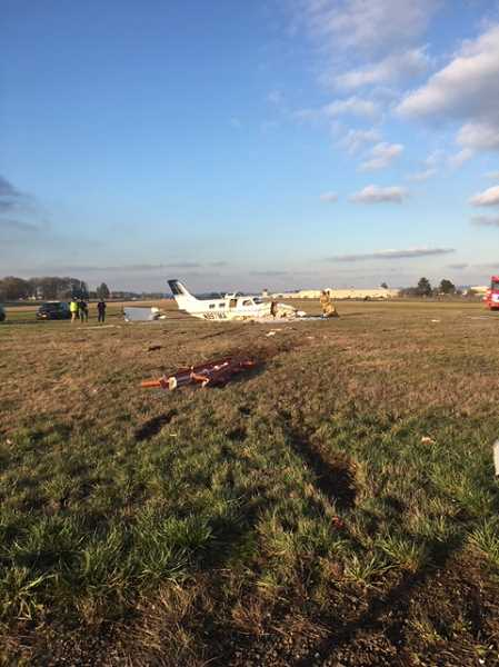 MARION COUNTY SHERIFF'S OFFICE - A piper Malibu Mirage crashed at the Aurora Airport, Wednesday, Feb. 6.