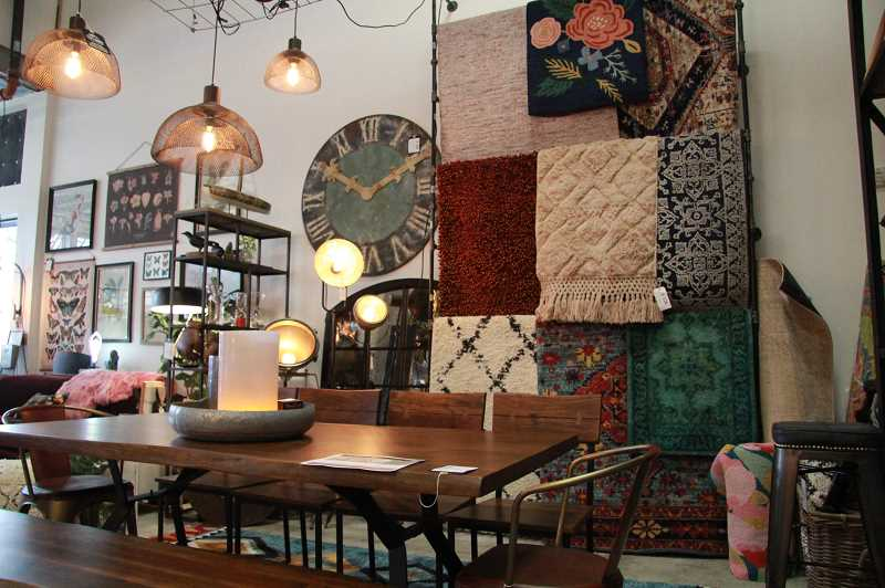 REVIEW PHOTO: SAM STITES - Rugs, botanicals, one-of-a-kind tables and chairs plus much more are available for purchase at City Home in The Windward.
