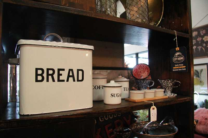 REVIEW PHOTO: SAM STITES - Vintage-inspired home accessories are among the many items sold at City Home. The Lake Oswego pop-up will be open through July 31 in The Windward.