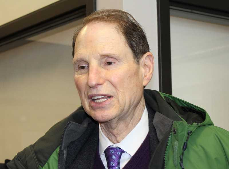HOLLY M. GILL/MADRAS PIONEER - U.S. Sen. Ron Wyden visited Madras for a town hall in March 2018. He will return Friday, Feb. 22.