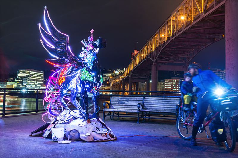 COURTESY: SEAN GENTRY - 'The Cosmic Messenger' by Miki Masuhara-Page was part of the Winter Light Festival in a recent year; this year's festival takes place Feb. 7-9.
