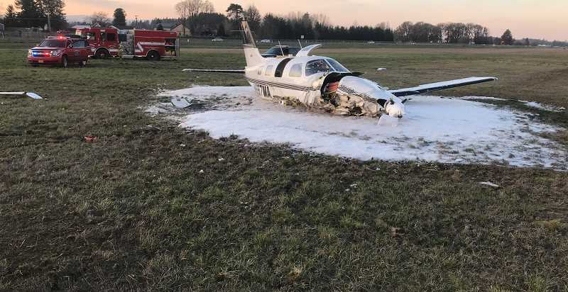 AURORA FIRE DISTRICT - Aircraft struck a radio transmitter while preparing to land at Aurora Airport Wednesday, Feb. 6.