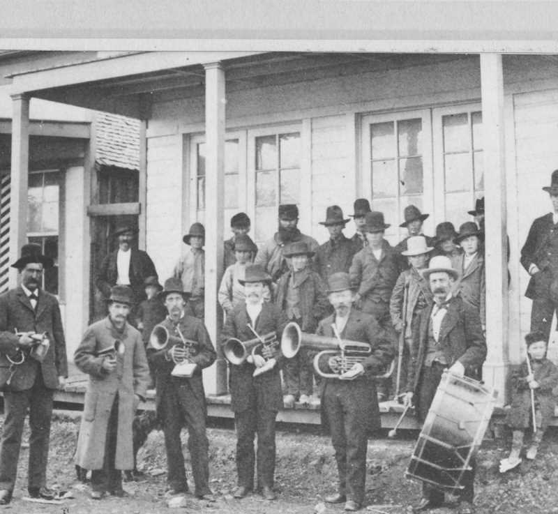 PHOTO COURTESY OF BOWMAN MUSEUM  - A six-member band performed at local events such as parades and social gatherings to the delight of local residents.