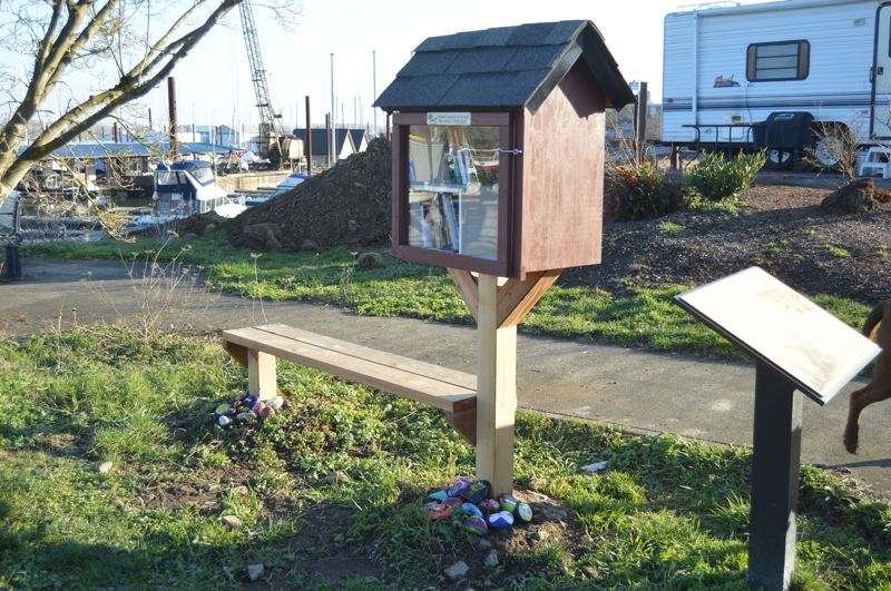 SPOTLIGHT PHOTO: NICOLE THILL-PACHECO - This new library was dedicated at Grey Cliffs Waterfront Park on Saturday, Feb. 2. It is the first in St. Helens and one of three in the county