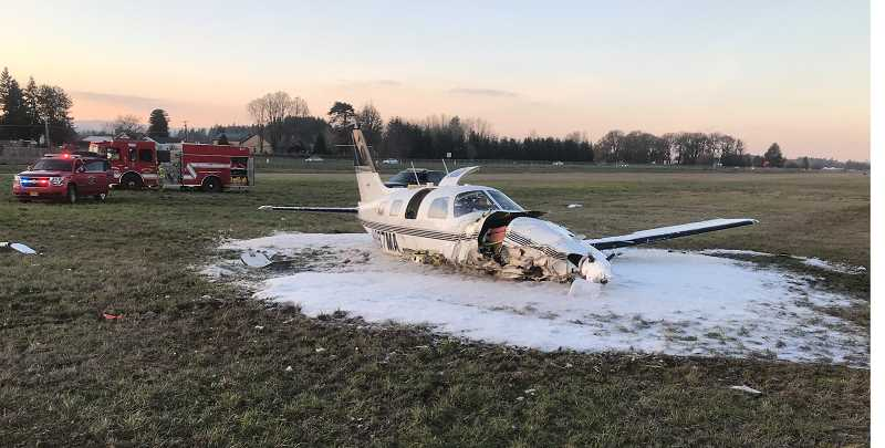 AURORA FIRE DISTRICT - According to witness accounts, the aircraft was inbound for landing when the aircraft came into contact with radio transmitters in the south end of the Aurora Airport field.