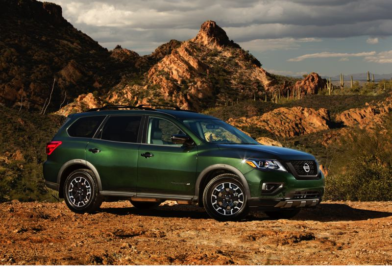 COURTESY NISSAN - The Pathfinder 'Rock Creek Edition' is available on SL and SV Pathfinders and should be popular in the Pacific Northwest.