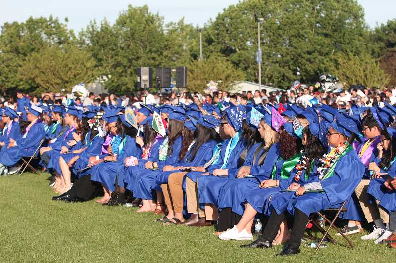 WOODBURN INDEPENDENT FILE PHOTO - Woodburn High School sees roughly 10 percent more graduates than the state average.