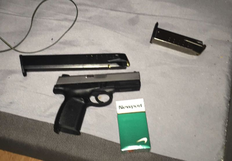 PPB PHOTO - Police say this gun was seized as evidence while a warrant was served in Gresham.