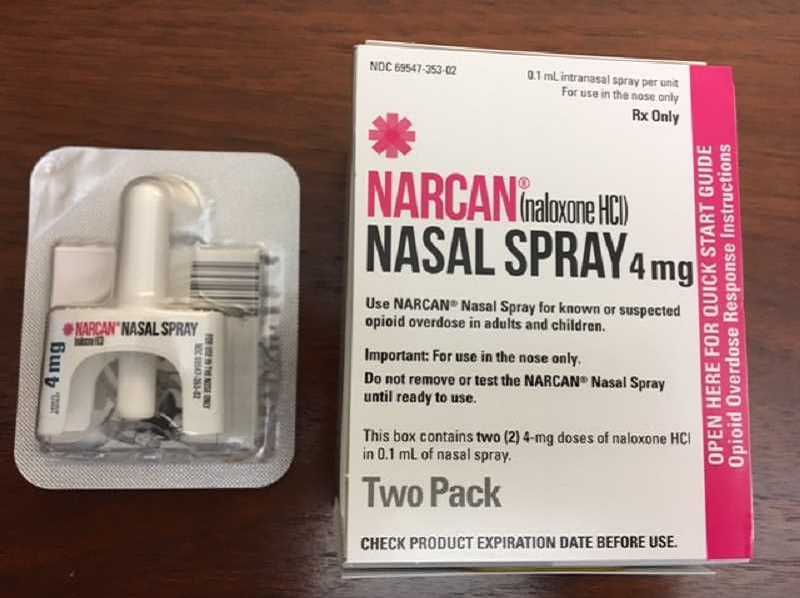 COURTESY OF CITY OF WOODBURN - The anti-opioid nasal spray, Narcan, is a recent addition to area police departments. It has already been cited as a lifesaver.