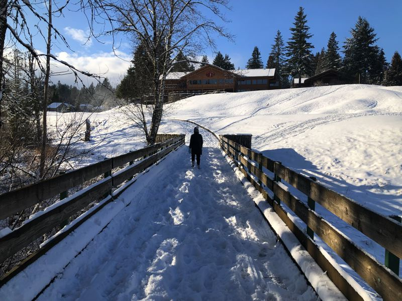 PAMPLIN MEDIA GROUP: MARK GARBER - Parts of the Gresham area, like Gresham Butte, saw five to six inches of snow Saturday, Feb. 9, as the snowstorm hit mostly north and east of the Portland during the day.
