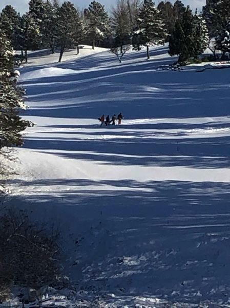 PAMPLIN MEDIA GROUP: MARK GARBER - Snowboarders practiced their runs in Gresham, where between five and six inches of snow fell.