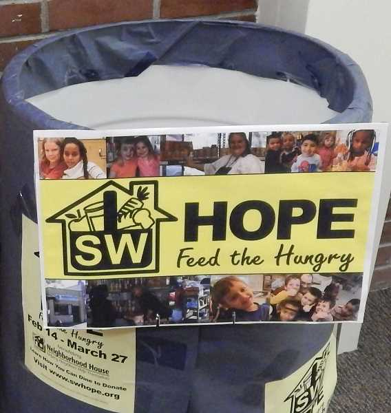 SUBMITTED PHOTO - The four-foot-high barrels for food donations are already in place at  stores, churches and schools for  SW Hope, which begins on the first day of Lent, March 6.