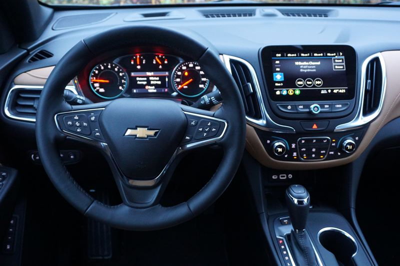 PORTLAND TRIBUNE: JEFF ZURSCHMEIDE - The interior of the 2019 Equinox features an improved infortainment system that is the most intuitive ever offered by Chevy.