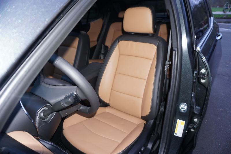 PORTLAND TRIBUNE: JEFF ZURSCHMEIDE - The available leather front bucket seats in the 2019 Chevy Equinox can be heated for cold mornings.