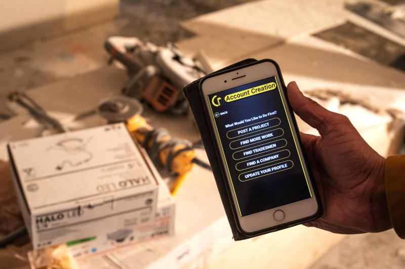 TRIBUNE PHOTO: JONATHAN HOUSE - The ToolBelt app, which is scheduled to launch in March, is designed to help contractors and tradespeople connect.