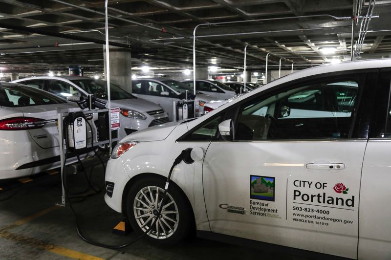 COURTESY: CITY OF PORTLAND - Public agencies such as TriMet and Portland's Bureau of Development Services (BDS) are reaping the benefits of implementing EVs into their fleets, and more than 20 percent of the city's fleet sedans are EVs and hybrid EVs.