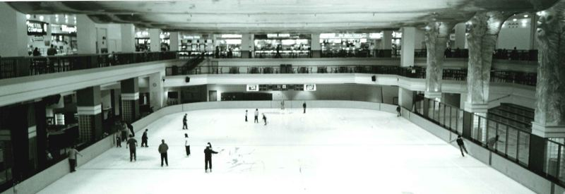 PHOTO COURTESY CLACKAMAS COUNTY HISTORICAL SOCIETY - This circa-1981 photo shows the Clackamas Town Center ice rink shortly after the mall's construction.