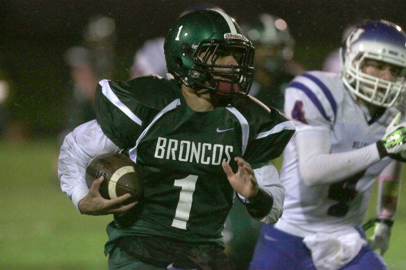 PMG FILE PHOTO - During his four years at Parkrose High, Jonathan Boland passed or 6,450 yards and rushed for another 3,000.