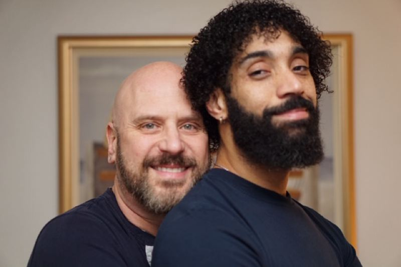 COURTESY PHOTO - The 'How We Met' Valentine's Day storytelling event at Clinton Street Theater features Nick Chiacchiaro and Windrin 'Cris' Crisostonos and other LGBTQ couples.