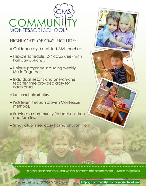 (Image is Clickable Link) Community Montessori School