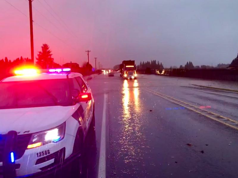 KOIN 6 NEWS - Water rushes over a major road in Washington County on Tuesday morning.