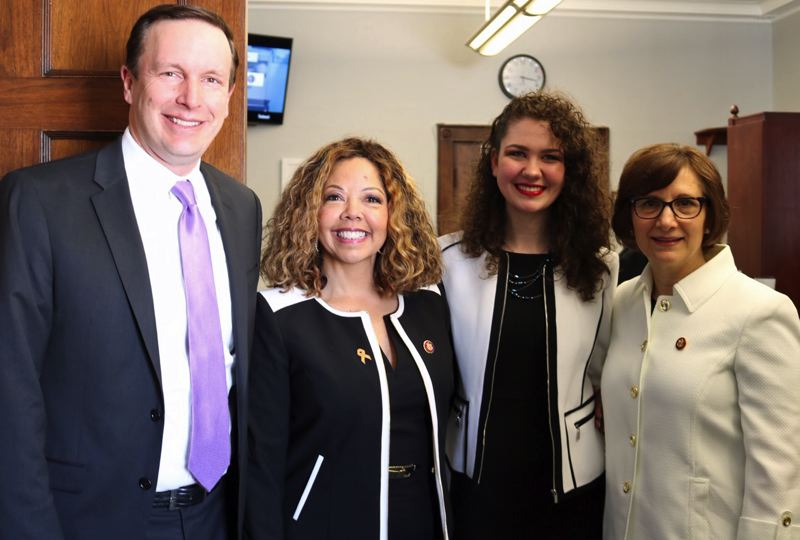 CONTRIBUTED - Gathering before the president's State of the Union speech are, from left, Sen. Chris Murphy, D-Conn; Rep. Lucy McBath, D-Ga.; Goddard; and Rep. Bonamici.