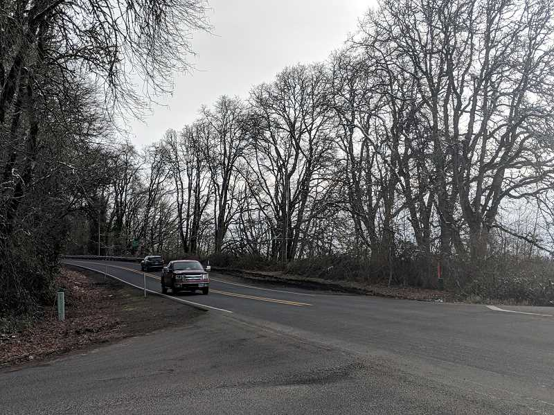 ESTACADA NEWS PHOTO: EMILY LINDSTRAND - Clackamas County leaders are considering using funds from a potential vehicle registration fee for safety improvements on Eagle Creek Road between Currin Road and Duus Road.