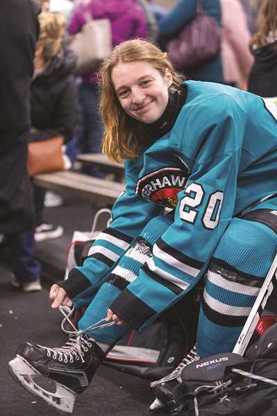 DIEGO DIAZ - Though she has only played organized hockey for three years, Leggett was picked as team captain by her coach due to her dedication to the sport and commitment to improving over the course of her short hockey career.