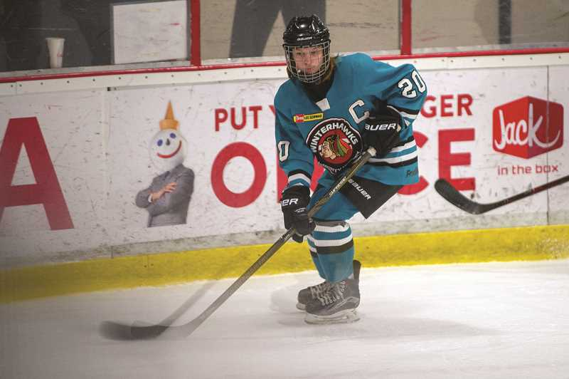 DIEGO DIAZ - Leggett is one of three girls to captain her team this year - the first time in Jr. Winterhawk history that a team has featured an all-female captaincy.