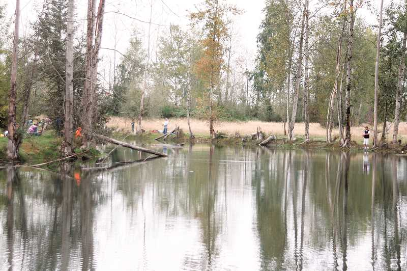 FILE PHOTO - The St. Louis Ponds near Gervais will be stocked with rainbow trout twice over the next 30 days.