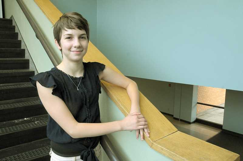 GRAPHIC FILE PHOTO - Sophia Redwine, now a freshman at Newberg High School, earned the designation of Newberg's Amazing Kid as a eight-grade student at Mountain View Middle School.