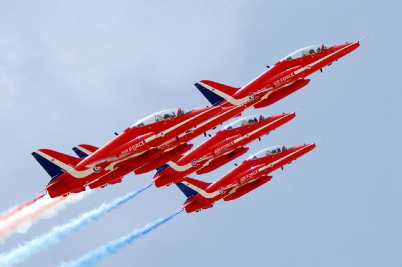 COURTESY: OREGON INTERNATIONAL AIR SHOW - The Red Arrows Aerobatic Team, from British Royal Air Force, will be at the Oregon International Air Show.