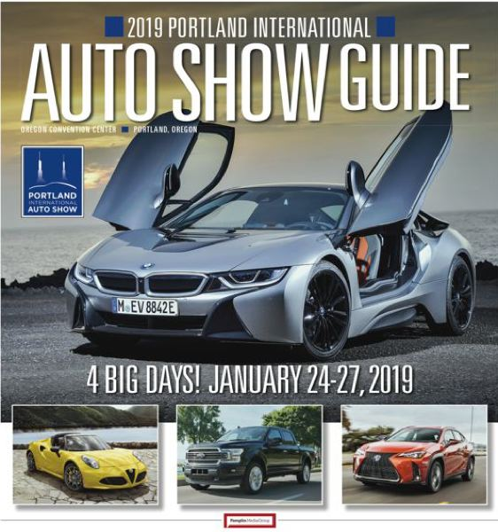 POIS/PMG - The cover of the 2019 Portland International Auto Show, sponsored by the Pamplin Media Group