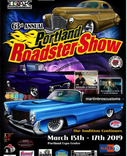 PORTLAND ROADSTER SHOW - The 63rd annual Portland Roadster Show is Friday-Sunday, March 15-17, Portland Expo Center, 2060 N. Marine Drive.
