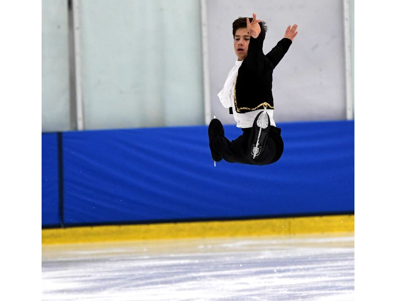 PHOTO COURTESY: ACTIONPHOTOS BY MARIANNE - Happy Valley's Samuel Mindra, 15, an Oregon Connections Academy sophomore, recently returned from the U.S. Figure Skating Championships in Detroit.