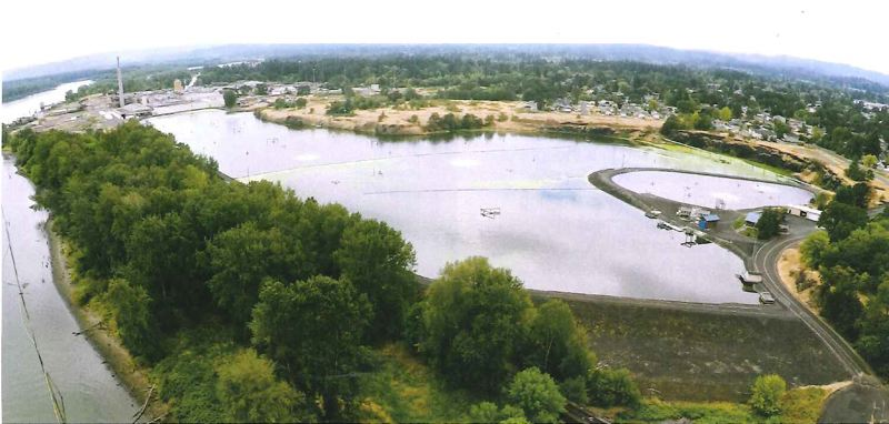 COURTESY OF THE CITY OF ST. HELENS - The city of St. Helens has been pursuing the concept of re-purposing its secondary wastewater lagoon for several years,, and has recently received funding from various agencies to pursue a feasibility study for turning the lagoon into a solid waste landfill.