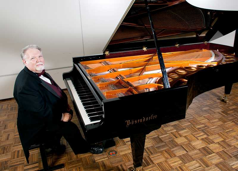 PHOTO COURTESY OF GFU - GFU professor Kenn Willson is a Bosendorfer Educational Artist, designated by the Viennese Piano Manufactuer.