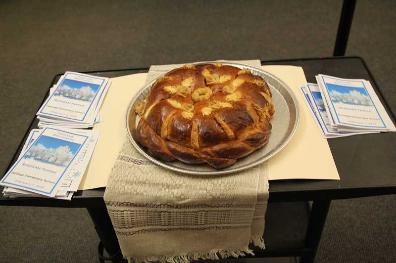 PMG PHOTO: JUSTIN MUCH - Popular bread in Russian culture, Karavai, is often part of wedding traditions and other festive or special events, including the Russian Festival at Heritage Elementary School Thursday, Feb. 7.