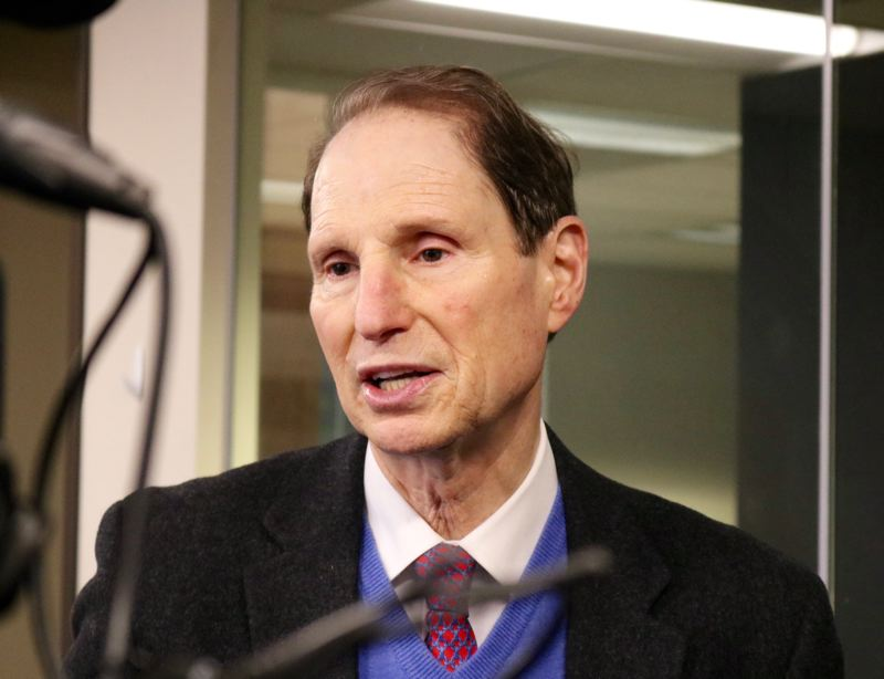 TRIBUNE PHOTO: ZANE SPARLING - U.S. Sen. Ron Wyden, D-Oregon, wants the Federal Communications Commission to create a new three-digit code to help those experiencing mental health crises.