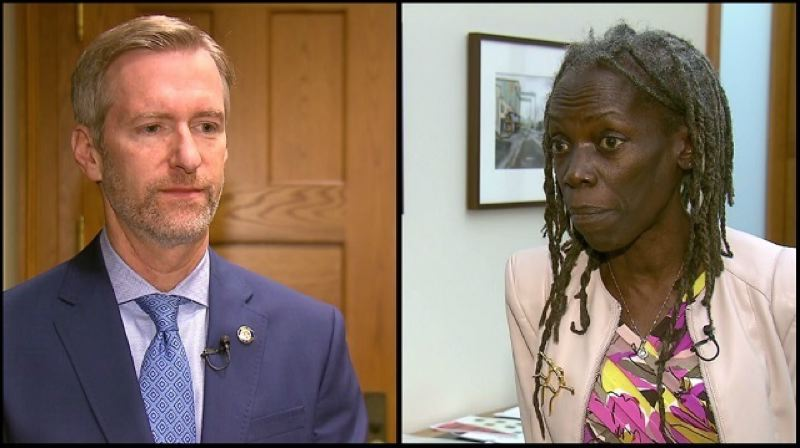 KOIN 6 NEWS - Mayor Ted wheeler and Commissioner Jo Ann Hardesty.