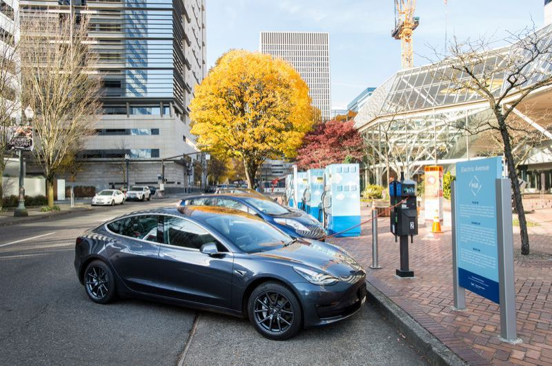 PORTLAND TRIBUNE FILE PHOTO - PGE has relocated Electric Avenue from Portland State Univeristy to near it headquarters in the World Trade Center.