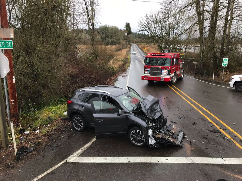 Pamplin Media Group - Crash on Hillsboro Highway injures two